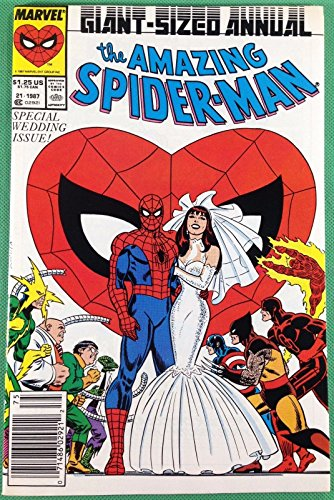 Amazing Spider-Man Annual (1987) 21 NM (9.4) Mary Jane wedding newsstand edition