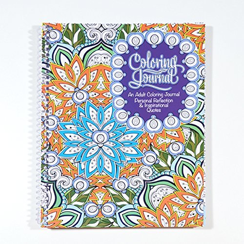 Adult Coloring Journal - An Adult Coloring Journal with Inspirational Quotes - Spiral Bound - 6.625