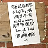 Bless Us Oh Lord Prayer Tea Towel, Gift for Her, Kitchen Linens Decor Bathroom, Best Seller, Most Popular Item
