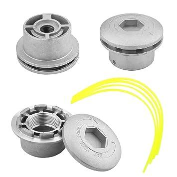Zerone Cabezal Desbrozadora Universal, Aluminio Cabezal Desbrozadora Desbrozadora Repuestos