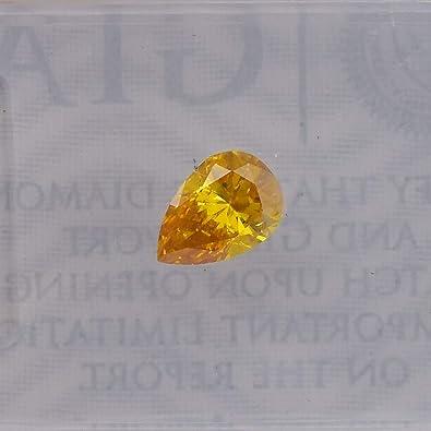c4d6fd8120 Image Unavailable. Image not available for. Color: 0.31 Carat Fancy Vivid  Yellow Orange Loose Diamond Natural ...