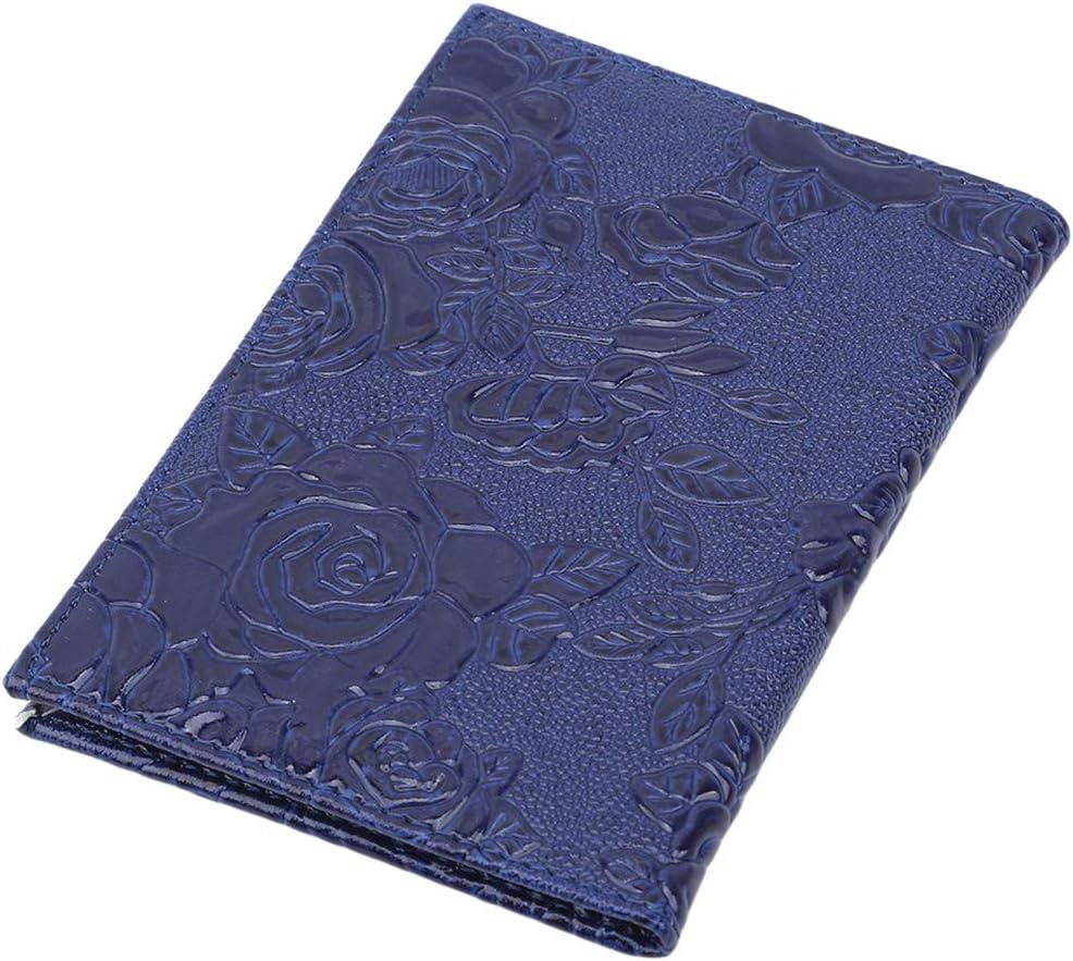 LIUCM Passport Cover Women Stereoscopic Flower Peony Ladies Passport Holder Travel Storage Supplies Accessories Wallet Dark red