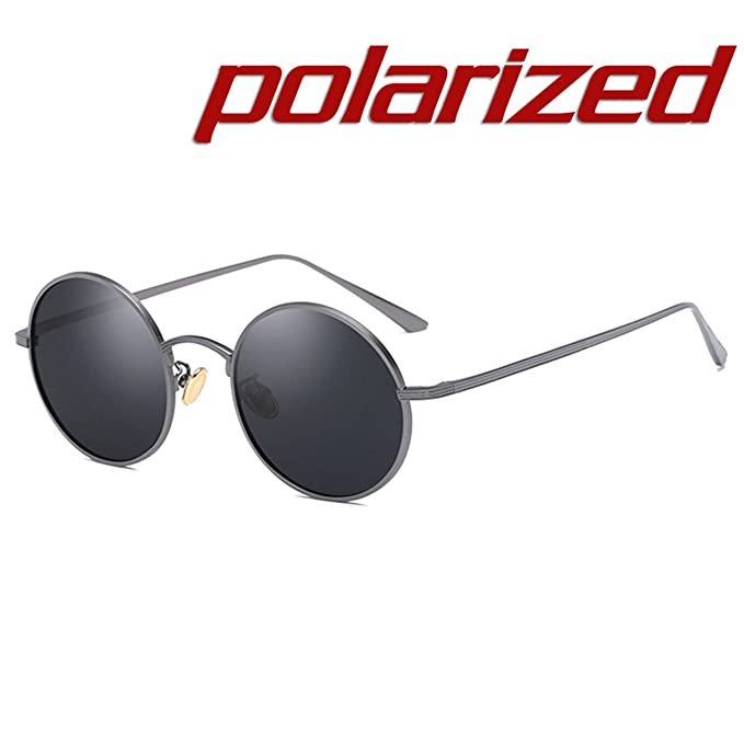 JULI Steampunk Redondo Gafas de sol Polarizadas Hombre Mujer ...