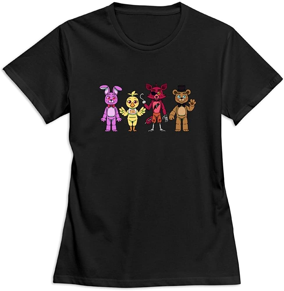 Female Five Night At Freddy's Day Custom 100% Cotton T-Shirt by Mjensen
