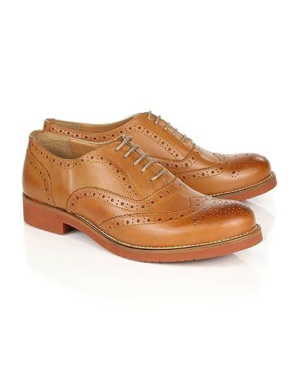 7b783cda594 G.H. Bass   Co. Women s Albany Oxford Brogue Shoes - Tan Leather - 6 ...