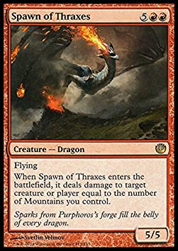 MTG Journey into Nyx Rare Spawn of Thraxes