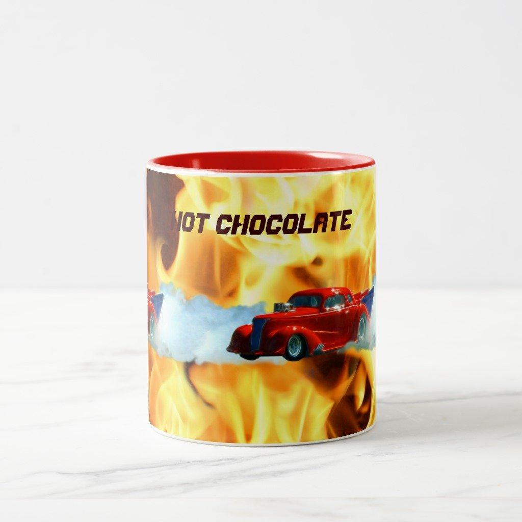 Zazzle Flames & drag-racing Doorslammer Race Car Kidsマグ 11 oz, Two-Tone Mug レッド 2e8c0f15-1ea6-2215-26c9-fdfdfd748efb B0788CMFPF  レッド 11 oz, Two-Tone Mug