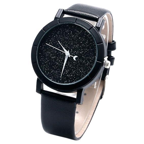 Novel Moon-Night - Reloj de pulsera para mujer, diseño informal, esfera con