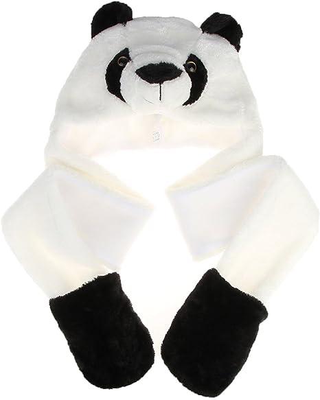 Panda Dessin Animé Animal Chapeau écharpe Enfants Gant