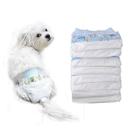 10X algodón Pañal los Mascotas Pañales desechables para perros - L