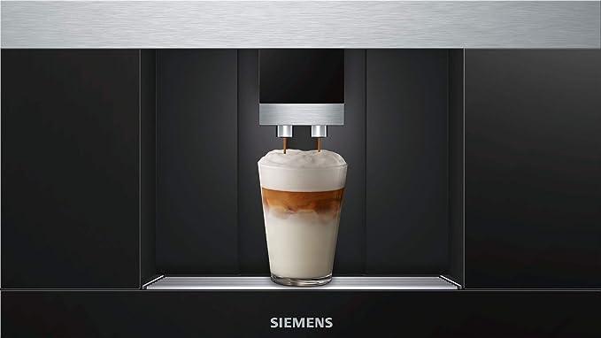 Siemens CT636LES6 Cafetera integrable, 19 bares negro, inox h ...