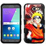 for Samsung Galaxy J3 Emerge (2017)/Amp Prime 2, Hard+Rubber Dual Layer Hybrid Heavy-Duty Rugged Armor Cover Case - Naruto #S