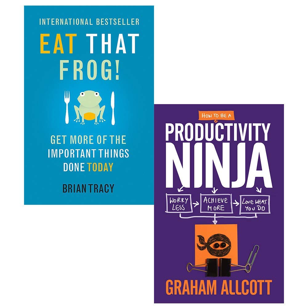 Eat That Frog, How to Be a Productivity Ninja 2 Books ...