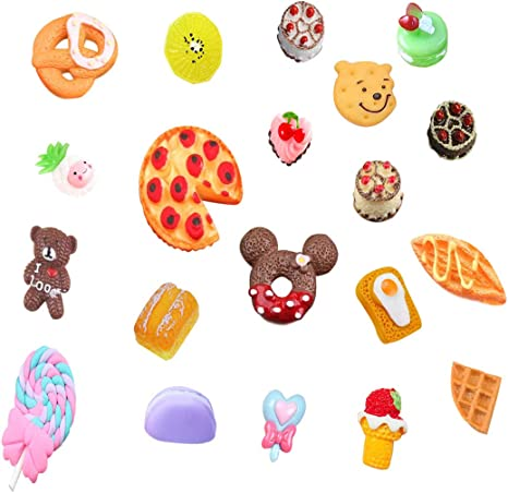 Slime charms Cute Dessert Bread Charms for Slime Filler Cake Ornament Phone Decoration Charms Slime Supplies Toys 40