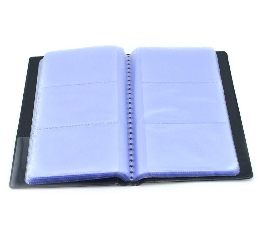 KERTM 1 X Black Business Name Card Holder Book for 144 Cards