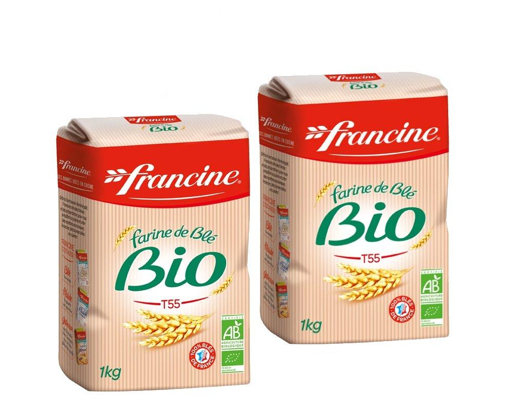 Francine Farine de ble Bio – French All Purpose orgánico harina de trigo – 2,2 libras (Pack de 2)