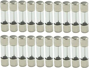 "Hxchen 20A 250V Microwave Oven Glass Fuse Tubes Quick Acting Fast Blow 5 x 20mm/0.2"" x 0.8"" - (20 Pcs)"