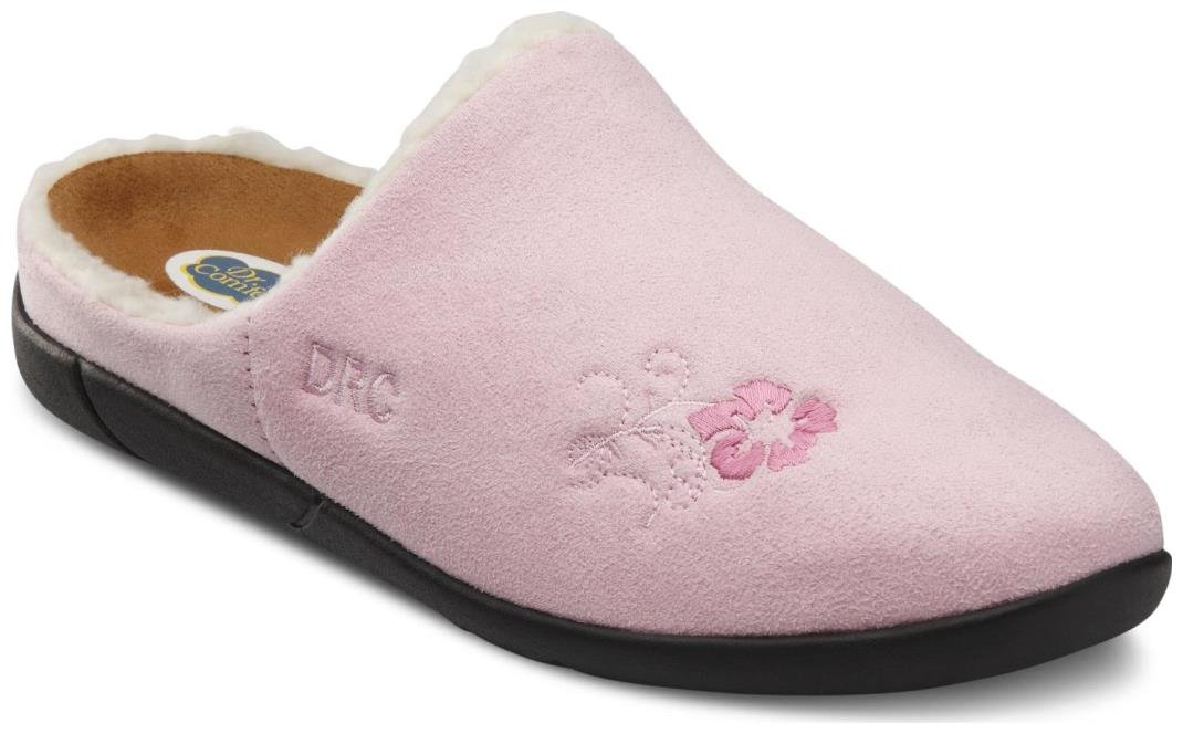 Dr. Comfort Women's Cozy Pink Diabetic Slippers by Dr. Comfort (Image #1)