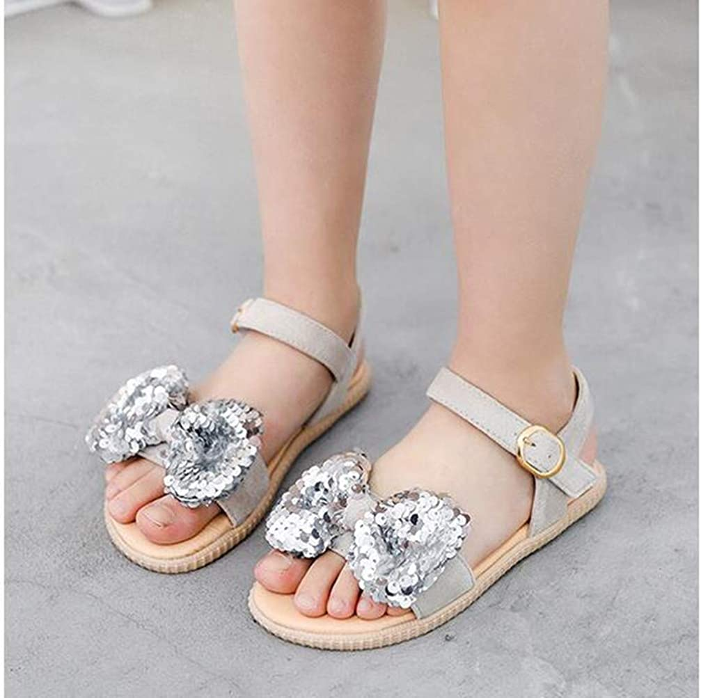 LFHT Kids Girls Comfort Summer Outdoor Sandal Pretty Glitter Ballet Flats