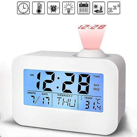 QYLT Despertador Proyector, Despertador Reloj Digital de ...