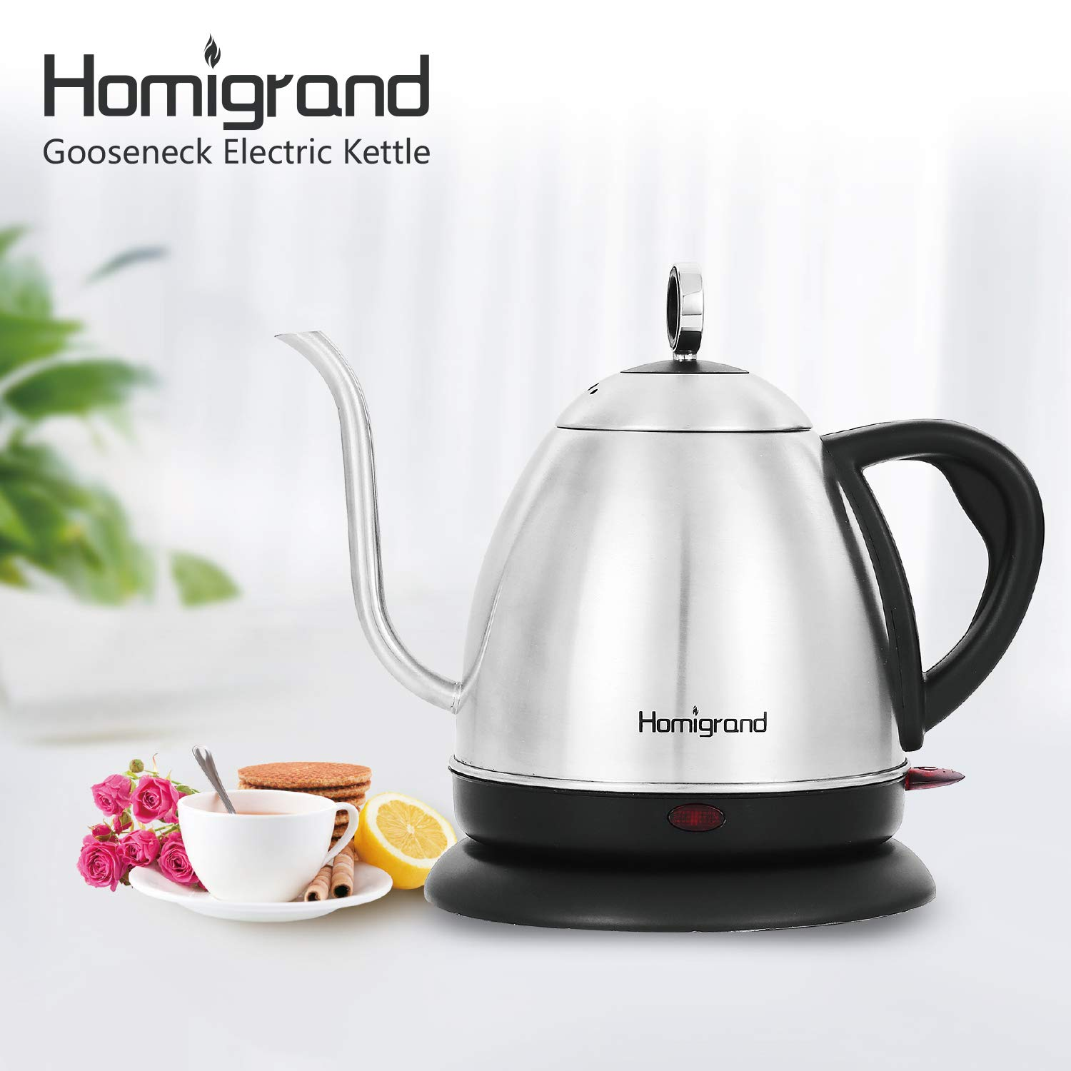 best electric kettle: homigrand 1l electric gooseneck kettle