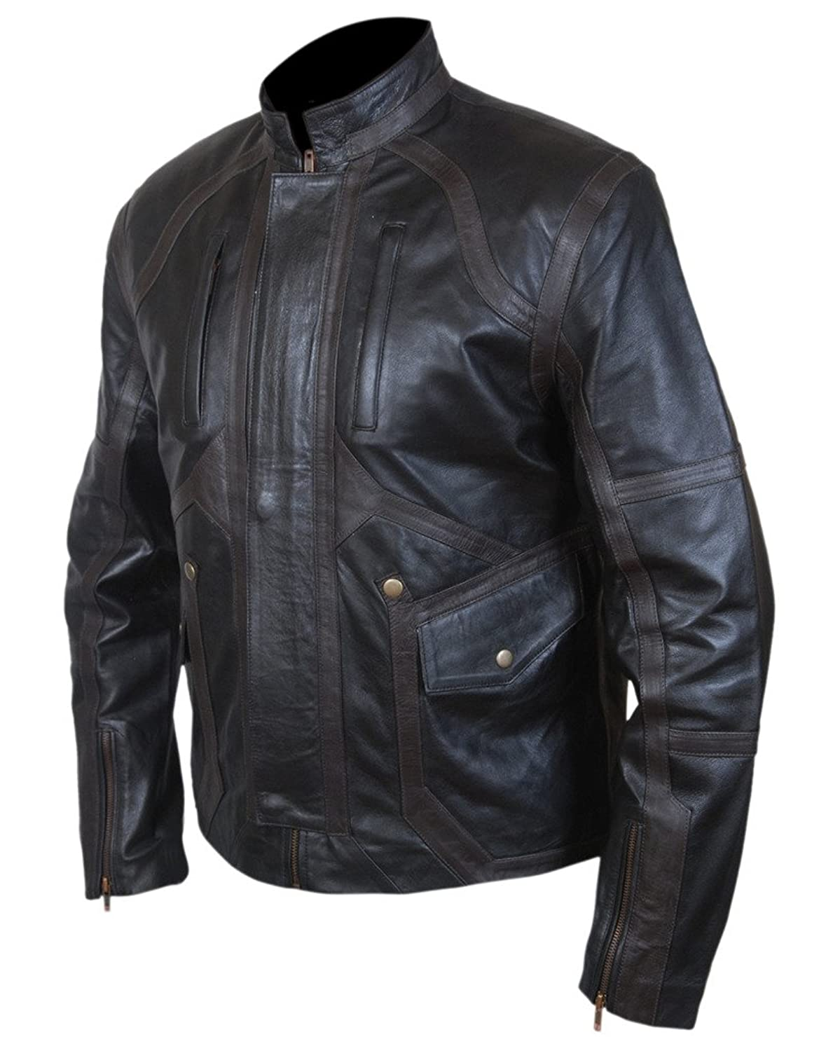 Captain America: Civil War Men's Bucky Barnes Sebastian Stan Genuine Leather Jacket - DeluxeAdultCostumes.com