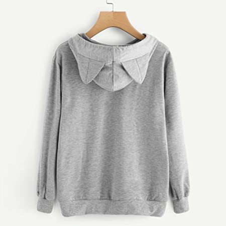 Sudadera con capucha para mujer Gato Manga larga Tops Blusas Camisas casuales Abrigo de niña LMMVP: Amazon.es: Deportes y aire libre