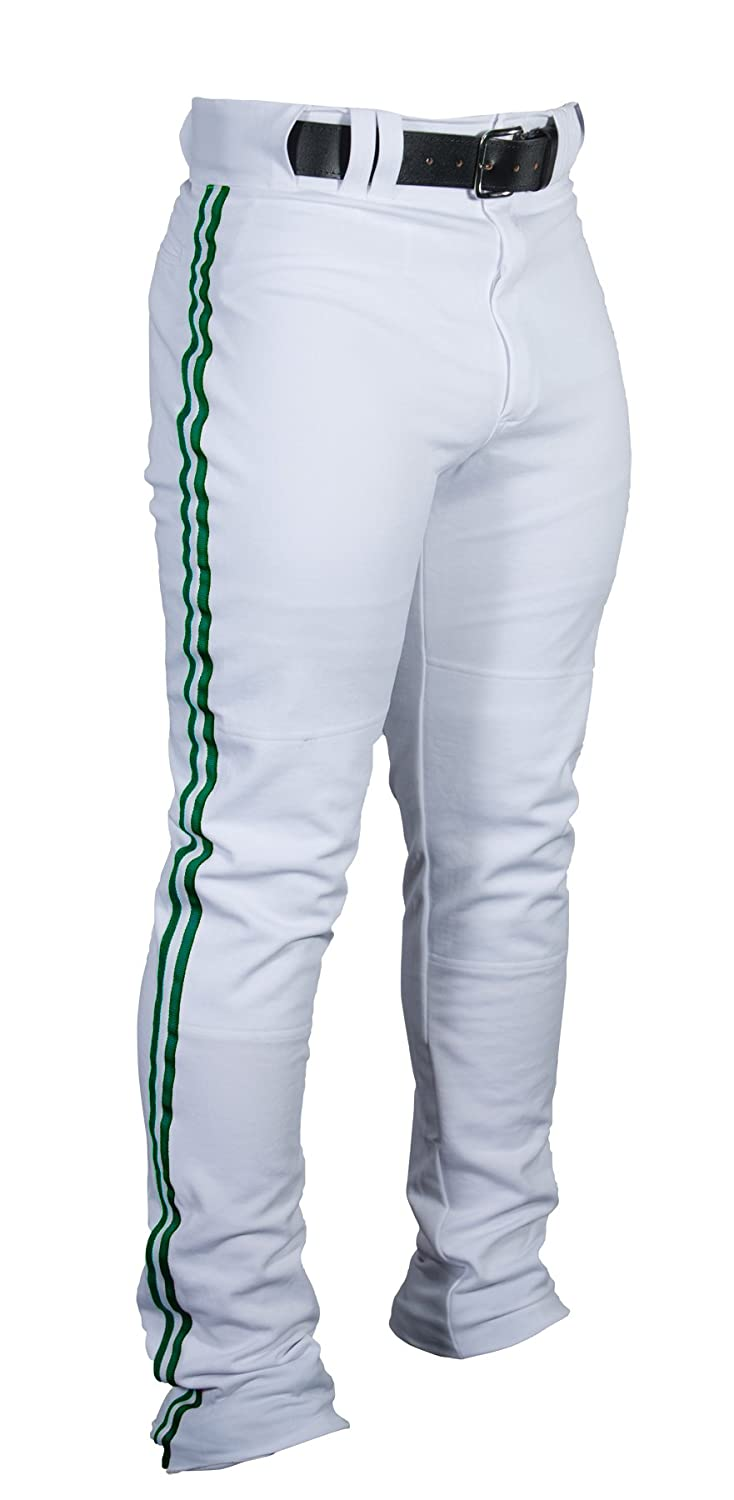 Louisville Slugger Boy 's triple-crown HeavyナイロンBoot Cut with Braidトリムパンツ B00MCM3A0G M|White/Dark Green Braid White/Dark Green Braid M