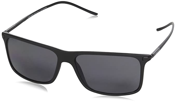 5bd9ffc04b2b Giorgio Armani Mens Sunglasses (AR8034) Black Matte/Grey Plastic,Nylon -  Polarized