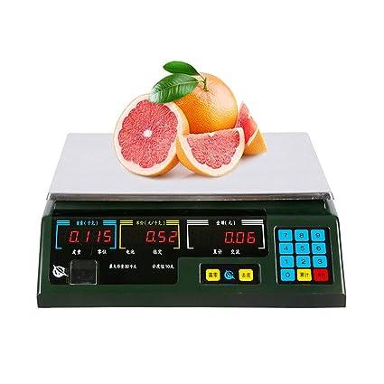 LLRDIAN Balanza electrónica Comercial 30kg de precisión de pesaje electrónico, Dijo la Venta de Frutas