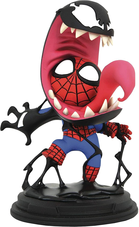 DIAMOND SELECT TOYS Marvel Animated Venom & Spider-Man Statue,Multicolor,5 inches
