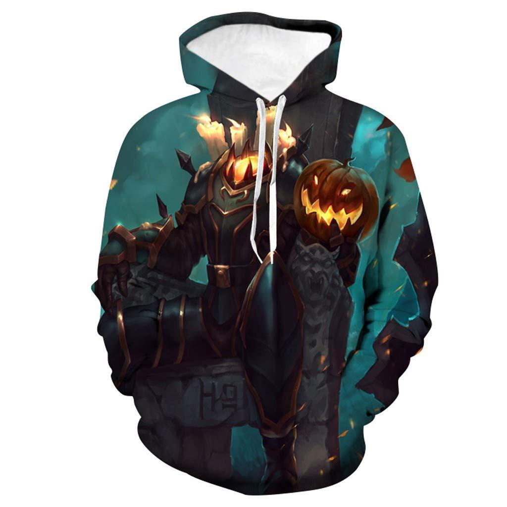 Bravetoshop Unisex Hoodie, Novelty Realistic 3D Digital Print Pullover Hooded Sweatshirt Halloween (Halloween-8,M) by Bravetoshop