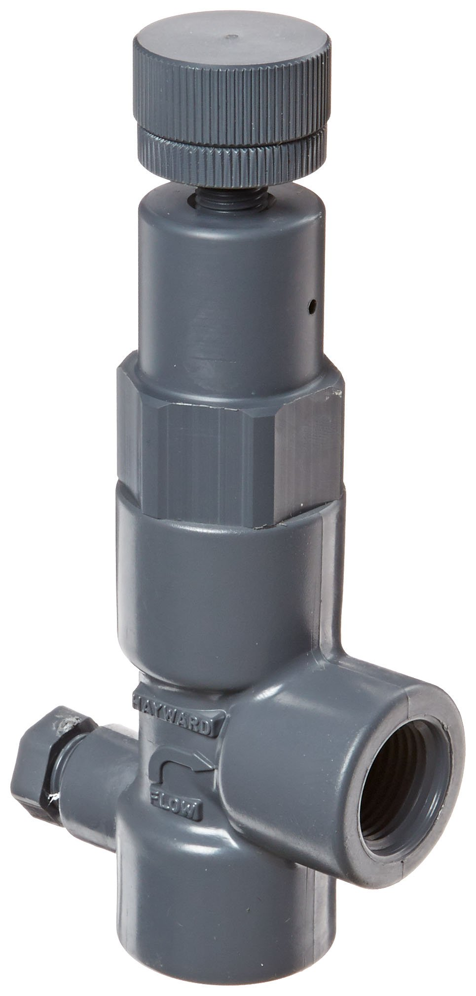 Hayward RV1050T Series RV Pressure Relief Valve, PVC with FPM Seals, Threaded End, 1/2'' Size