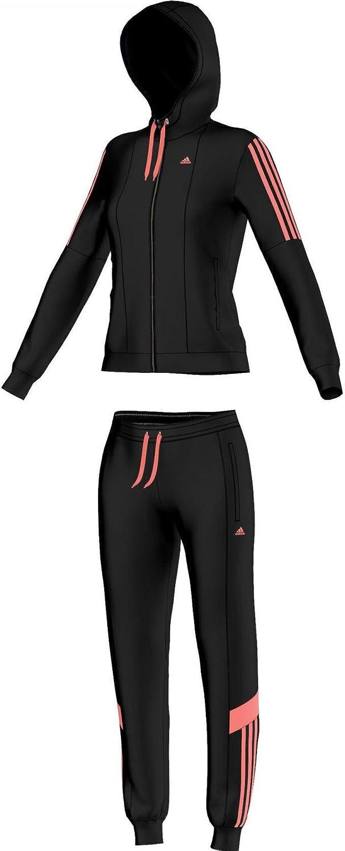 Damen Trainingsanzug in Schwarz und Weiß   adidas Deutschland