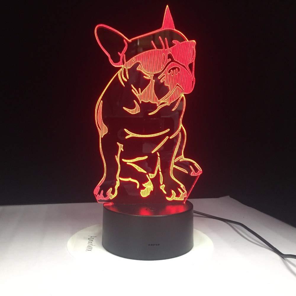wangZJ 3d nacht led lampe//touch tisch schreibtischlampen 7 farbwechsel lichter//kreative schreibtischlampe//geburtstagsgeschenk//airbus flugzeug