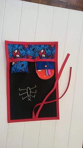 Pizarra portátil enrollable de tela Spider-Man: Amazon.es ...