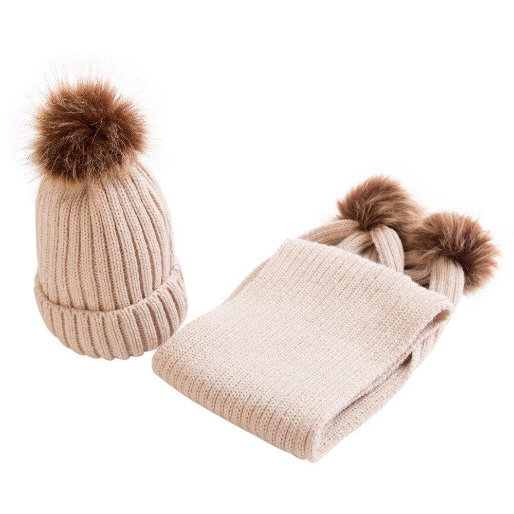 Covermason Winter Kinder Baby Jungen Mä dchen Strickmü tze Hut Cap Mü tzen Mit Schal