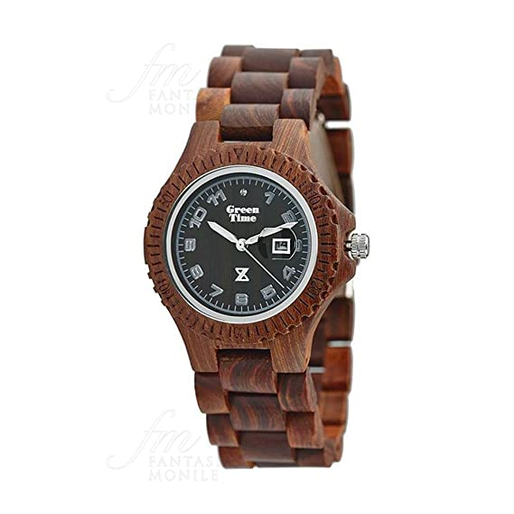 Reloj Green Time Mujer Madera Sándalo Wood zw006 a