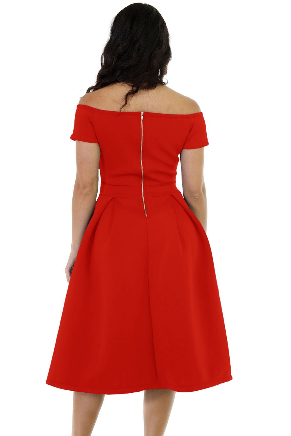 bb44ce91a3 Lalagen Women s Vintage 1950s Party Cocktail Wedding Swing Midi Dress