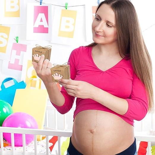 Amazon.com: AerWo - 50 cajas de regalo para baby shower + 50 ...