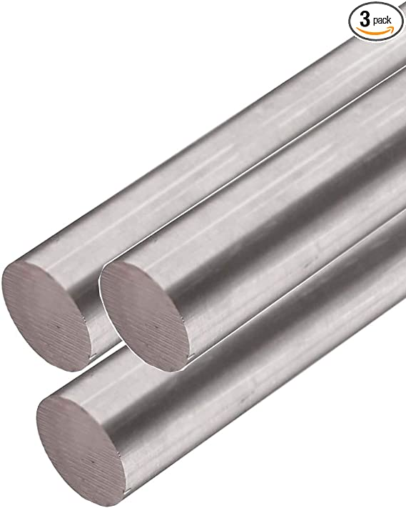 3.000 316 Stainless Steel Round Rod 3 inch x 12 inches