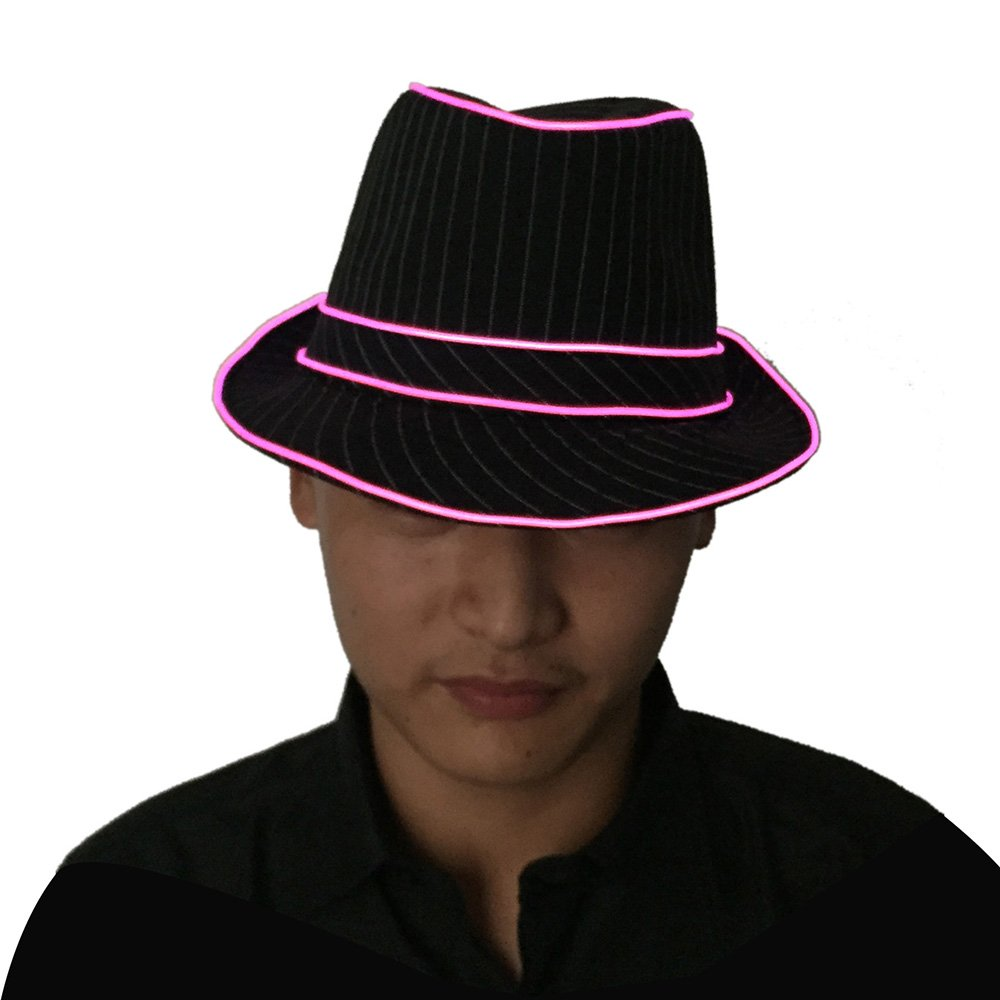 de4cc3437f0e6 Amazon.com  OxoxO Premium Light Up Fedora Hat