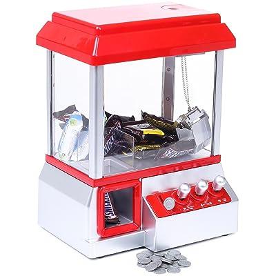 Grapple Machine con Fairground Music - Rojo Blanco - Candy Machine para dulces y Toy Grinscard: Juguetes y juegos