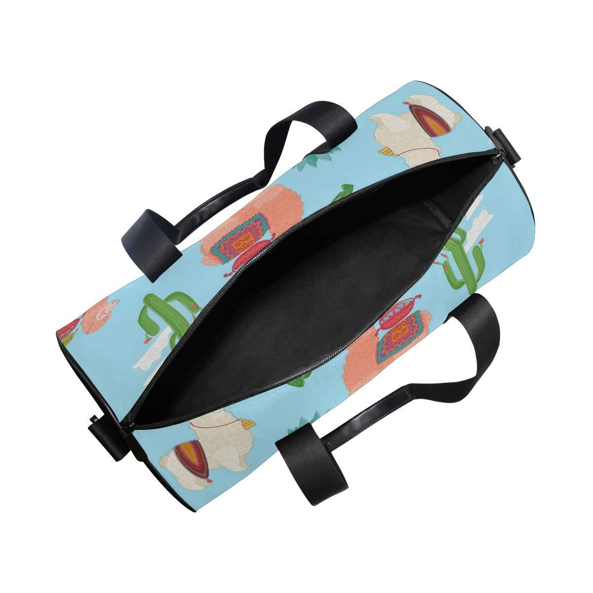 Llama Unisex's Duffel Bag Travel Tote Luggage Bag Gym Sports Luggage Bag by EVERUI (Image #5)