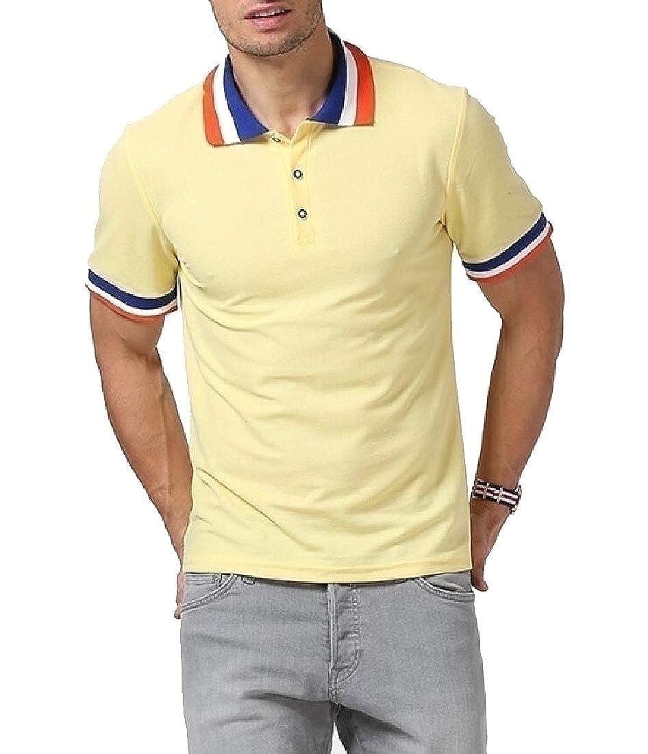 Godeyes Mens Summer Wild Short-Sleeve Oversize Lounge T-Shirt Top