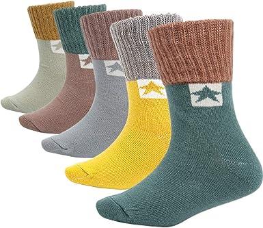 2-3 Toddler Crew High Solid White Cotton Basic Socks Unisex Junior Warm