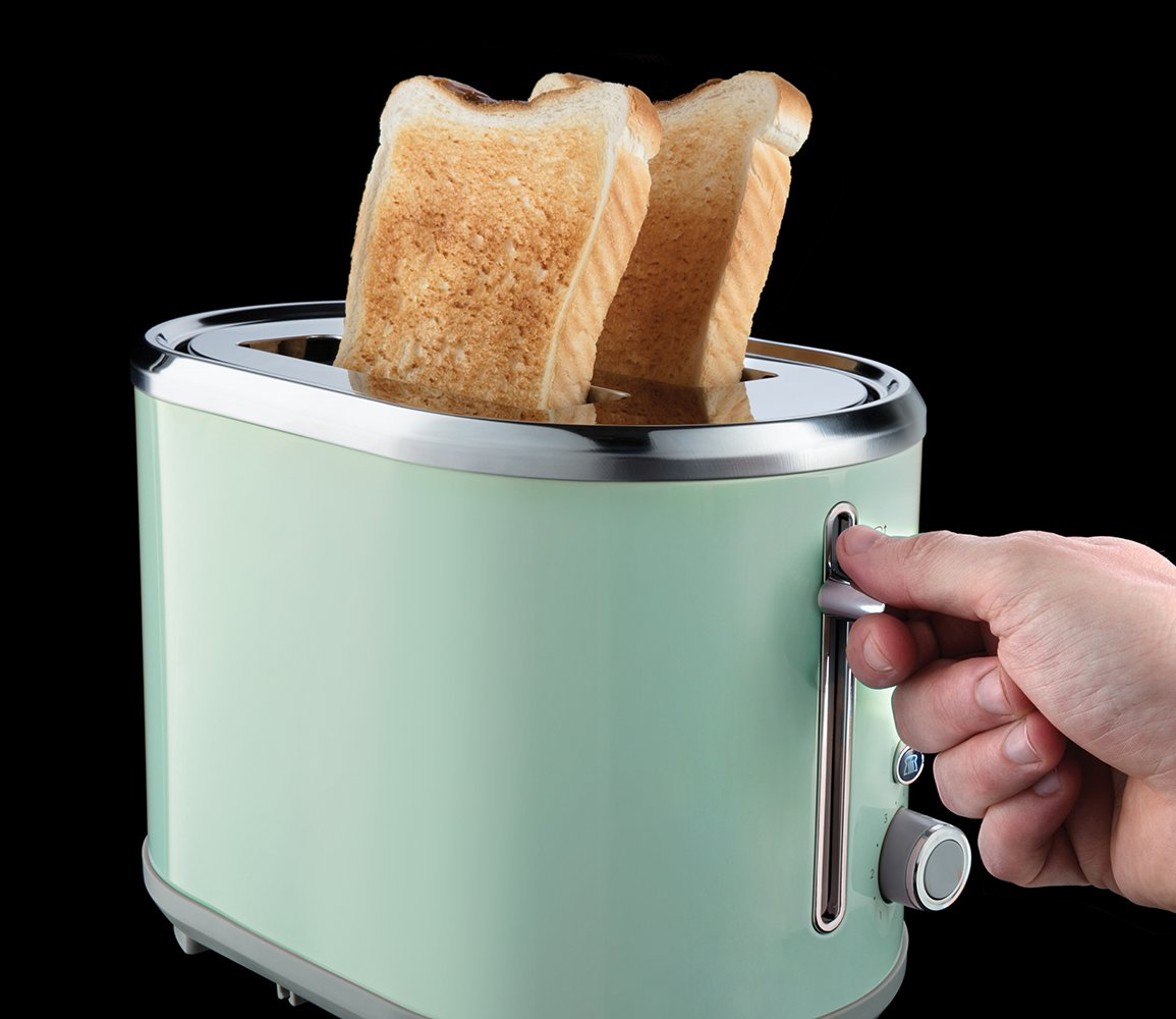 Amazon.de: Russell Hobbs 25080-56 Toaster Bubble Soft Green, 2 extra ...