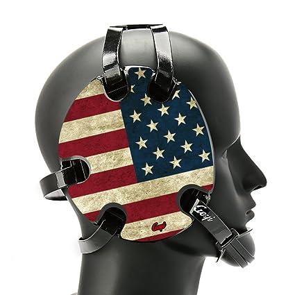 20e25af95f48e Amazon.com : Geyi Wrestling Headgear with American Old Flag Decals ...