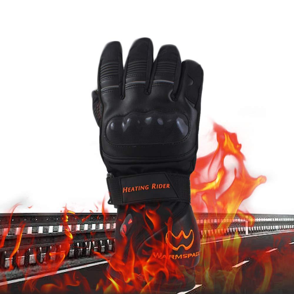 KIYOUMI Handschuhe Motorrad beheizt, wiederaufladbare 5600mAh Lithium-Batterie-Handwärmer Elektro-Thermal-Handschuhe, wasserdicht Beheizte Handschuhe, für Motorrad-Ski-Handschuhe