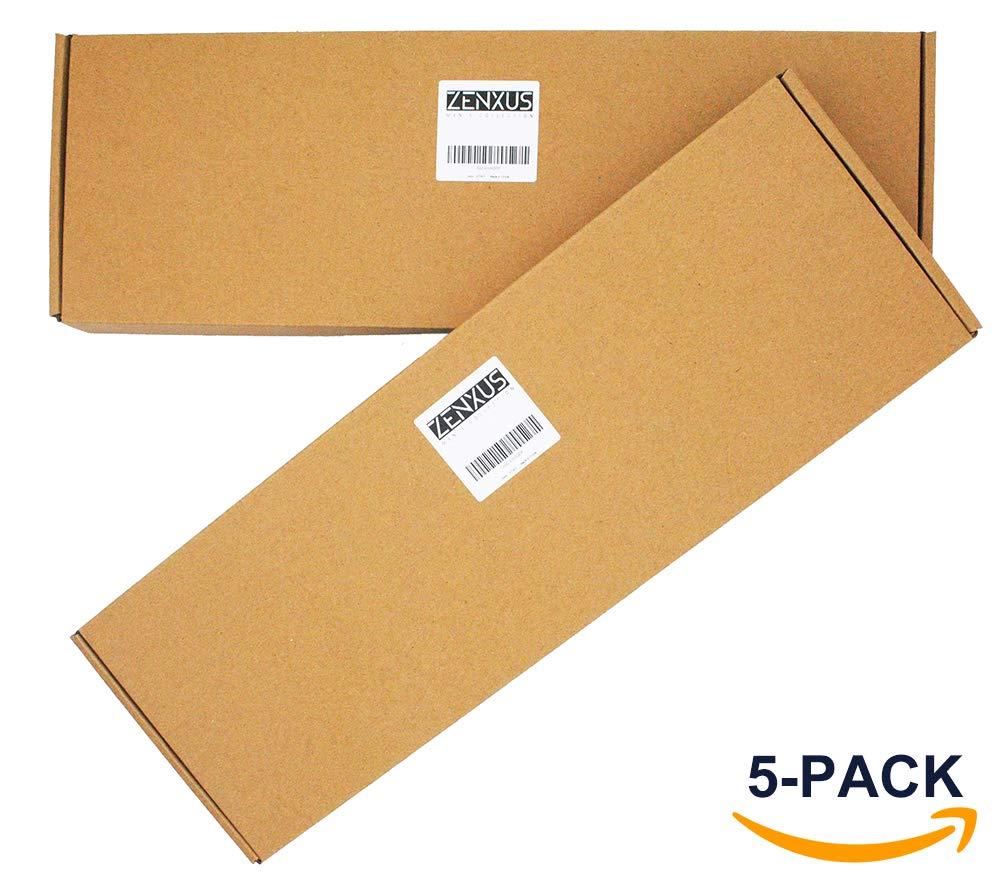 Skinny Solid Color Neckties Wedding Ties for Groomsmen 5 Pack ST518 by ZENXUS (Image #5)